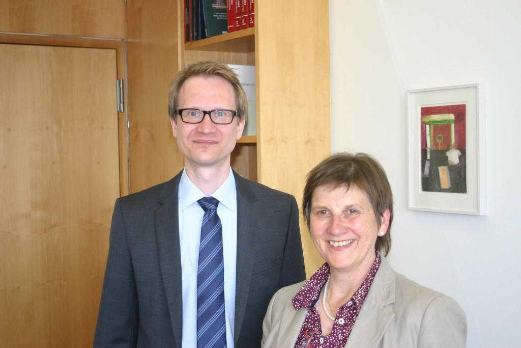 Andreas Hausmann zu Gast bei Frau Dr. Claudia Lücking-Michel MdB
