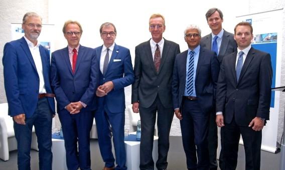 Kandidaten und Gastgeber beim OB-Talk von WJ und IHK Bonn/Rhein-Sieg
