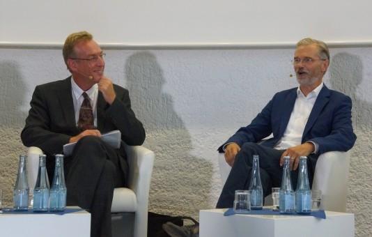 Dr. Stech und Tom Schmidt, OB-Kandidat von Bündnis 90/Die Grünen