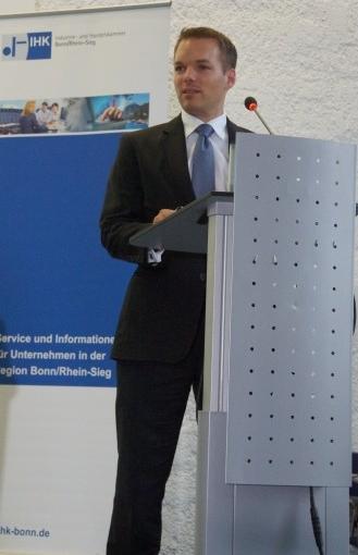 Florian Gloßner, Vorstandsvorsitzender der WJ Bonn/Rhein-Sieg