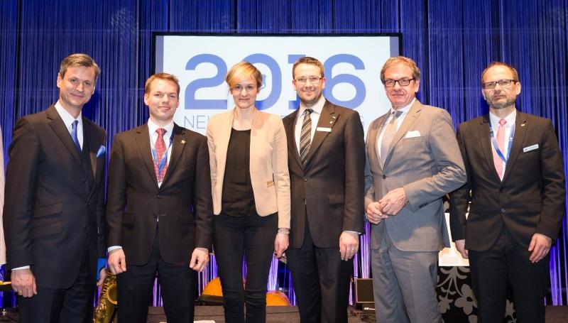 v.l.: Dr. Hubertus Hille, Florian A. Gloßner, Christina Kampmann, Michael Selbach, Wolfgang Grießl, Thomas Grigutsch